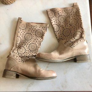 Rud by Rudsak star cut outs tall tan / taupe boots